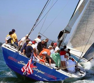Stars & Stripes sailing experience in San Diego